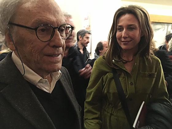 """Jean-Louis Trintignant et Elsa Zylberstein à l'avant-première de """"Un homme et un femme"""" version restaurée, le dimanche 6 novembre 2016 au cinéma l'Arlequin."""
