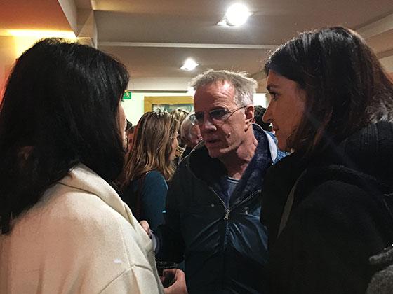 """Christophe Lambert et Valérie Perrin à l'avant-première de """"Un homme et un femme"""" version restaurée, le dimanche 6 novembre 2016 au cinéma l'Arlequin."""